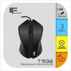 Fantech T532 1.8m Cable 1200DPI USB Optical Mouse